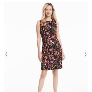 NWT - WHBM Mesh Laced Embroidered Sheath Dress